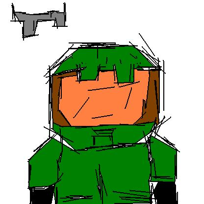 Master chief MsPaint Scribble?