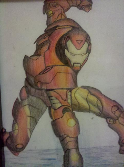 Iron Man Watercolor Pencil