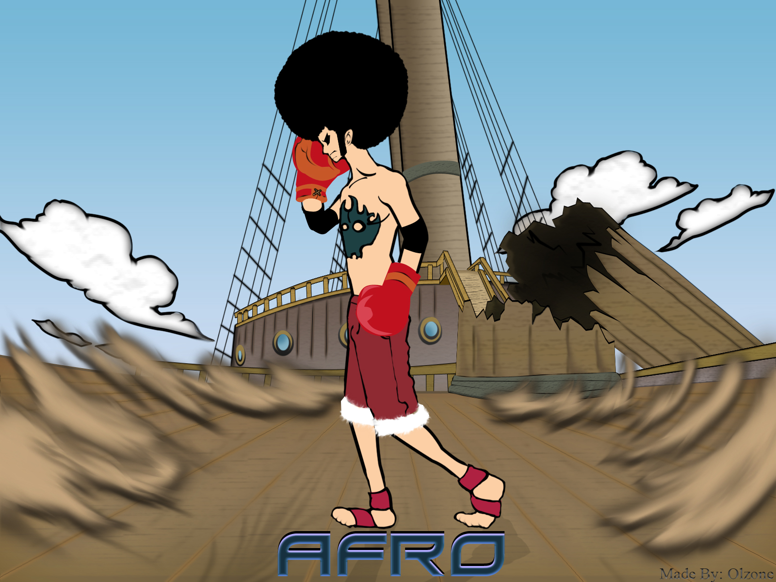 POWER TO THE AFRO LUFFY