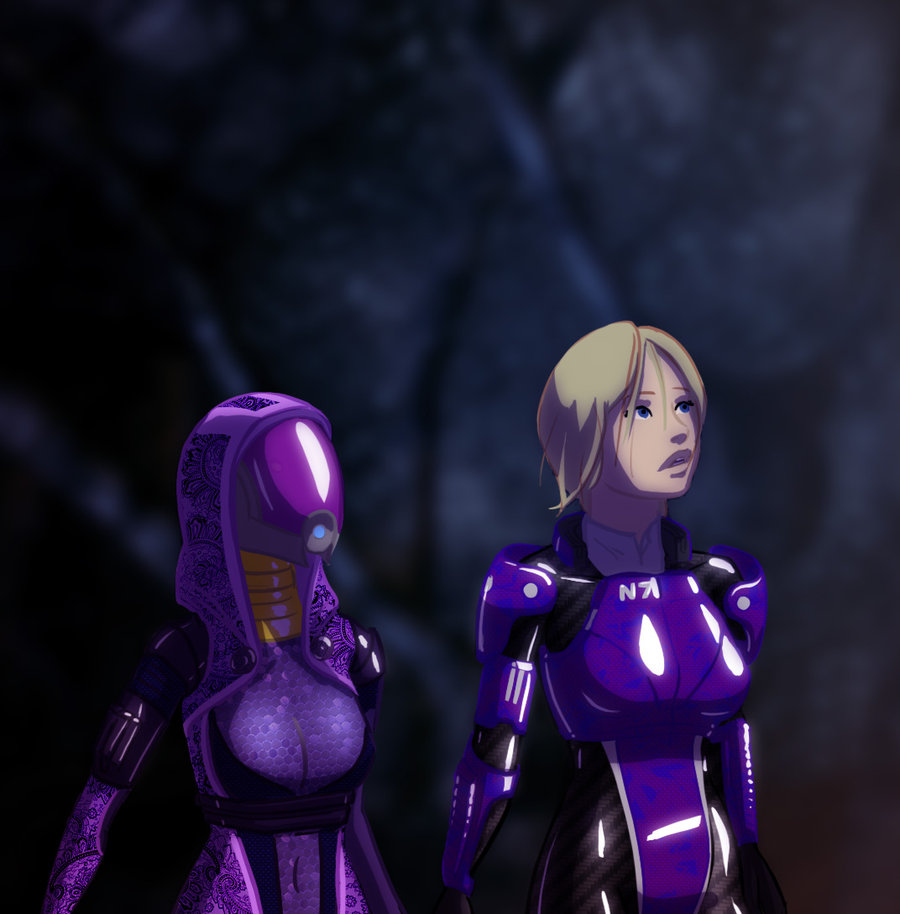 Tali and Shepard Look