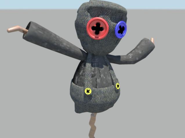 3D Scarecrow Ragdoll