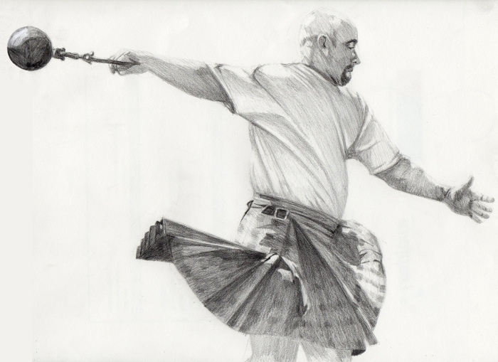 Highland Games Sketch