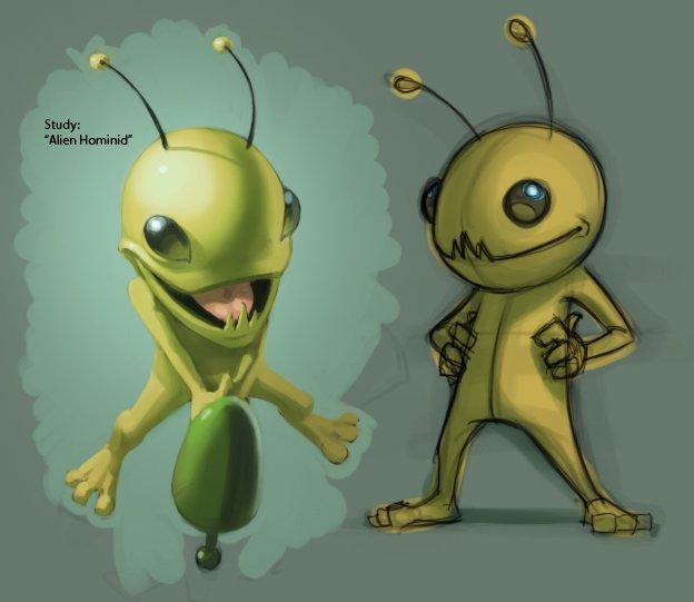 Alien Hominid Concept Art