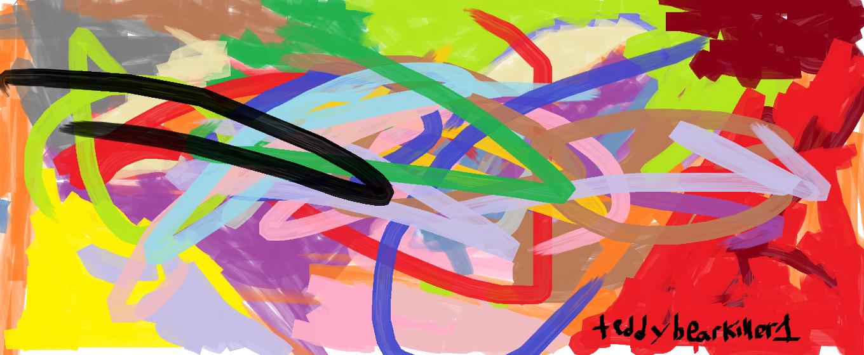 Random watercolor & oil paint