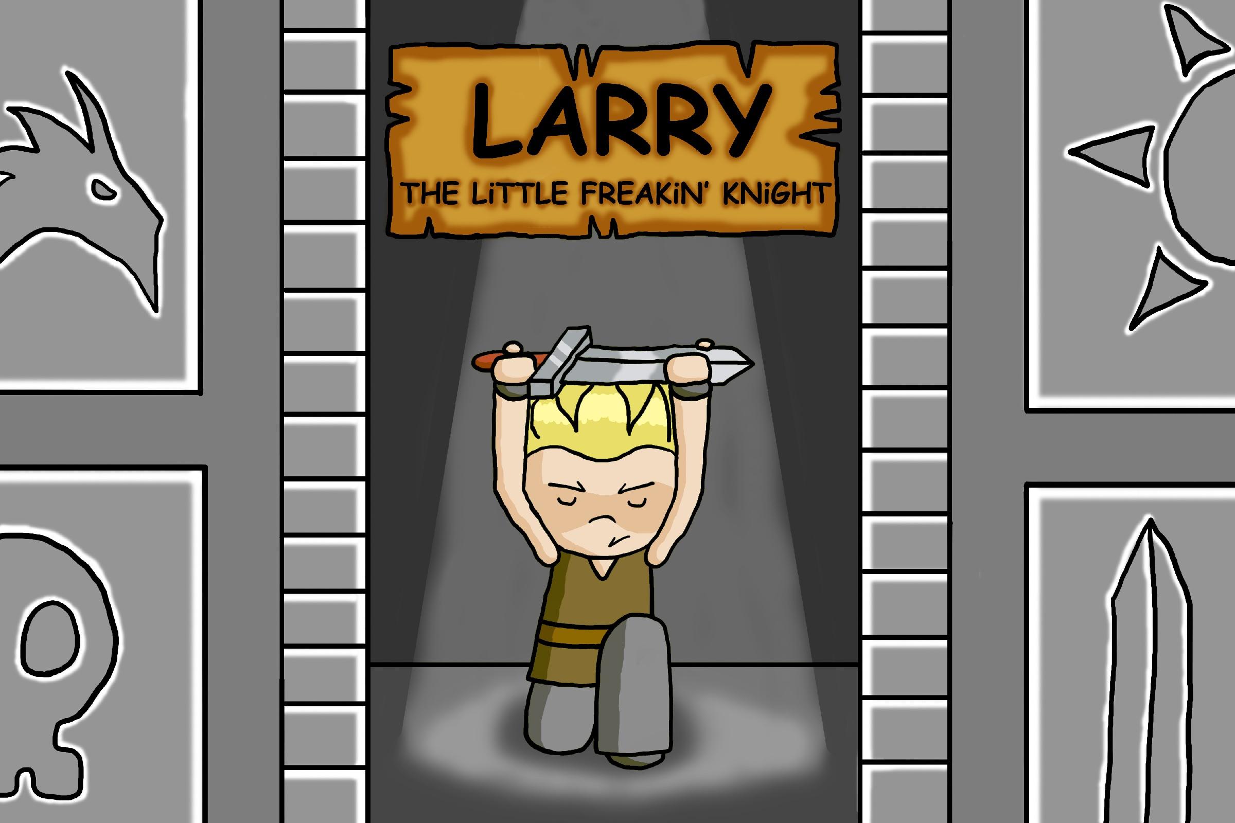 Larry Kneeling