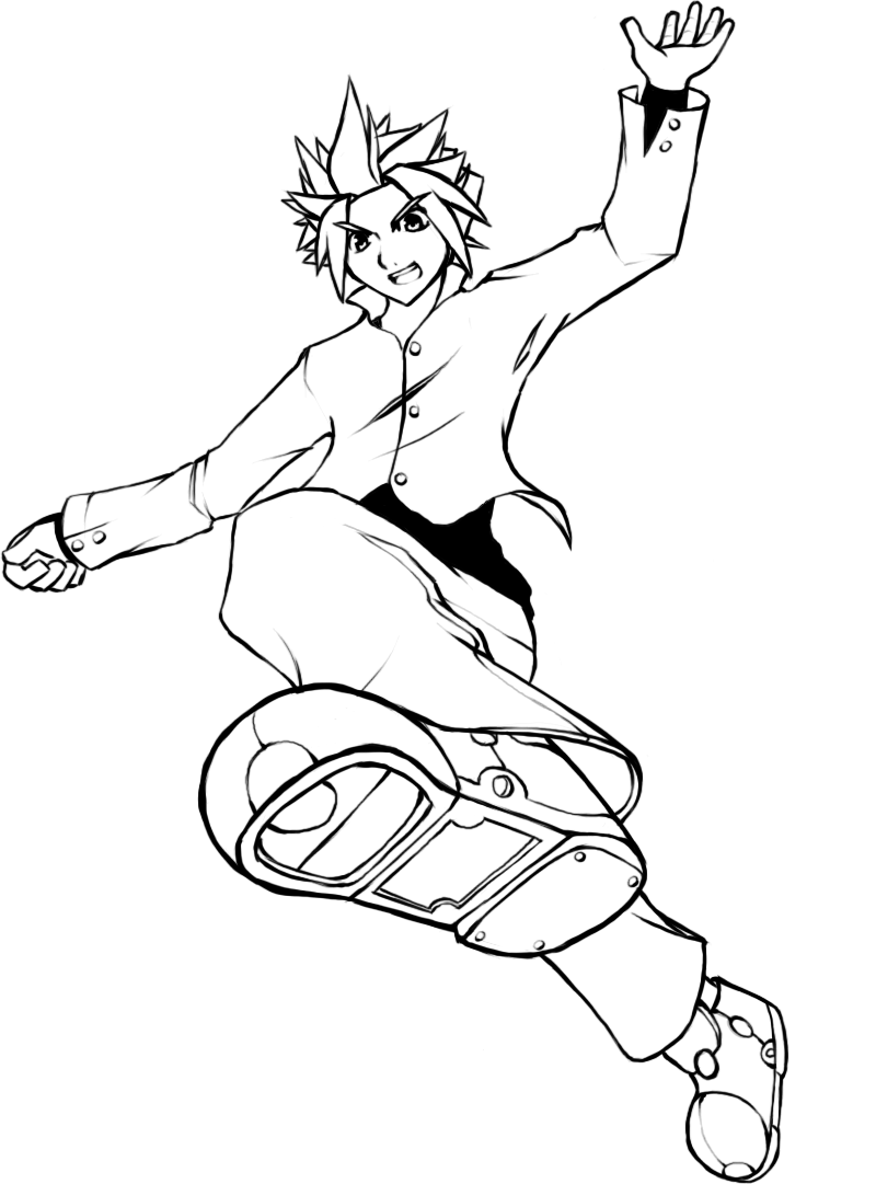 A picture, of a guy, jumping.