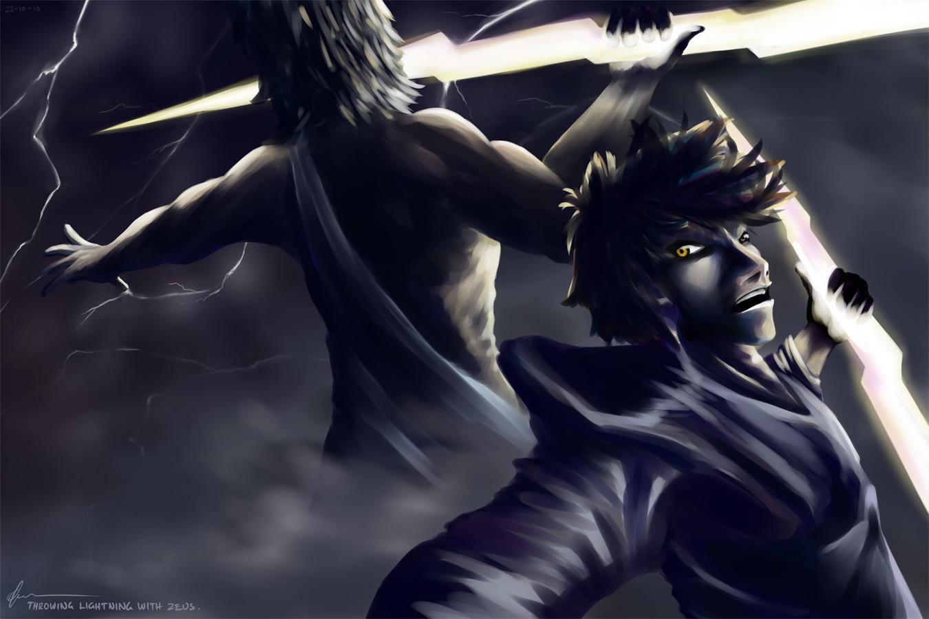 Throwing Lightning With Zeus.