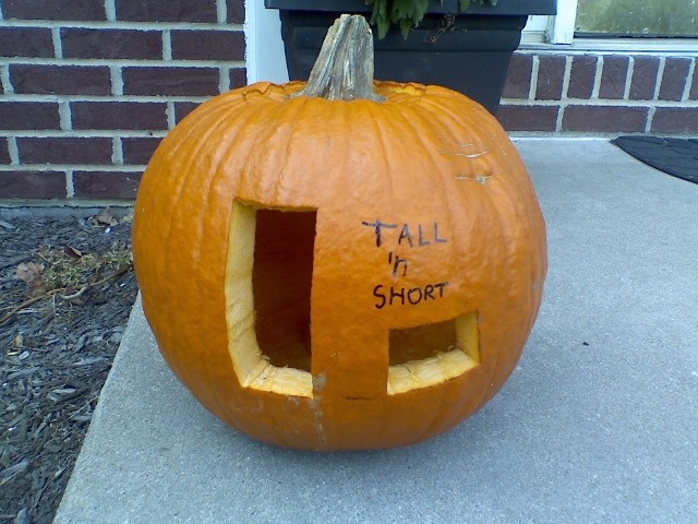 Tall 'n Short Pumpkin Carving