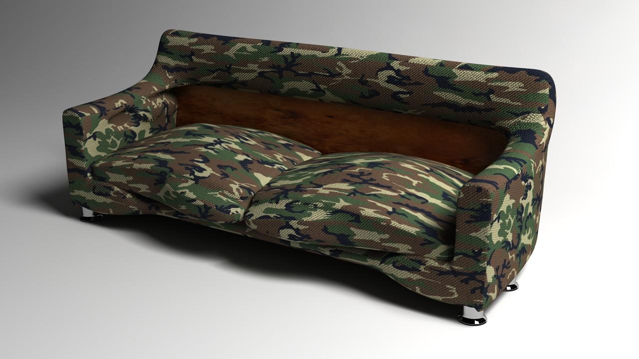 Camo sofa