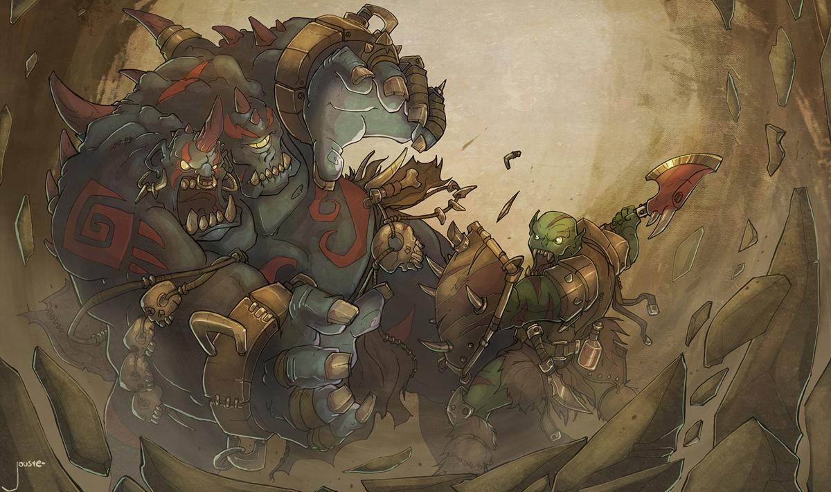ogre magi vs. orc warrior