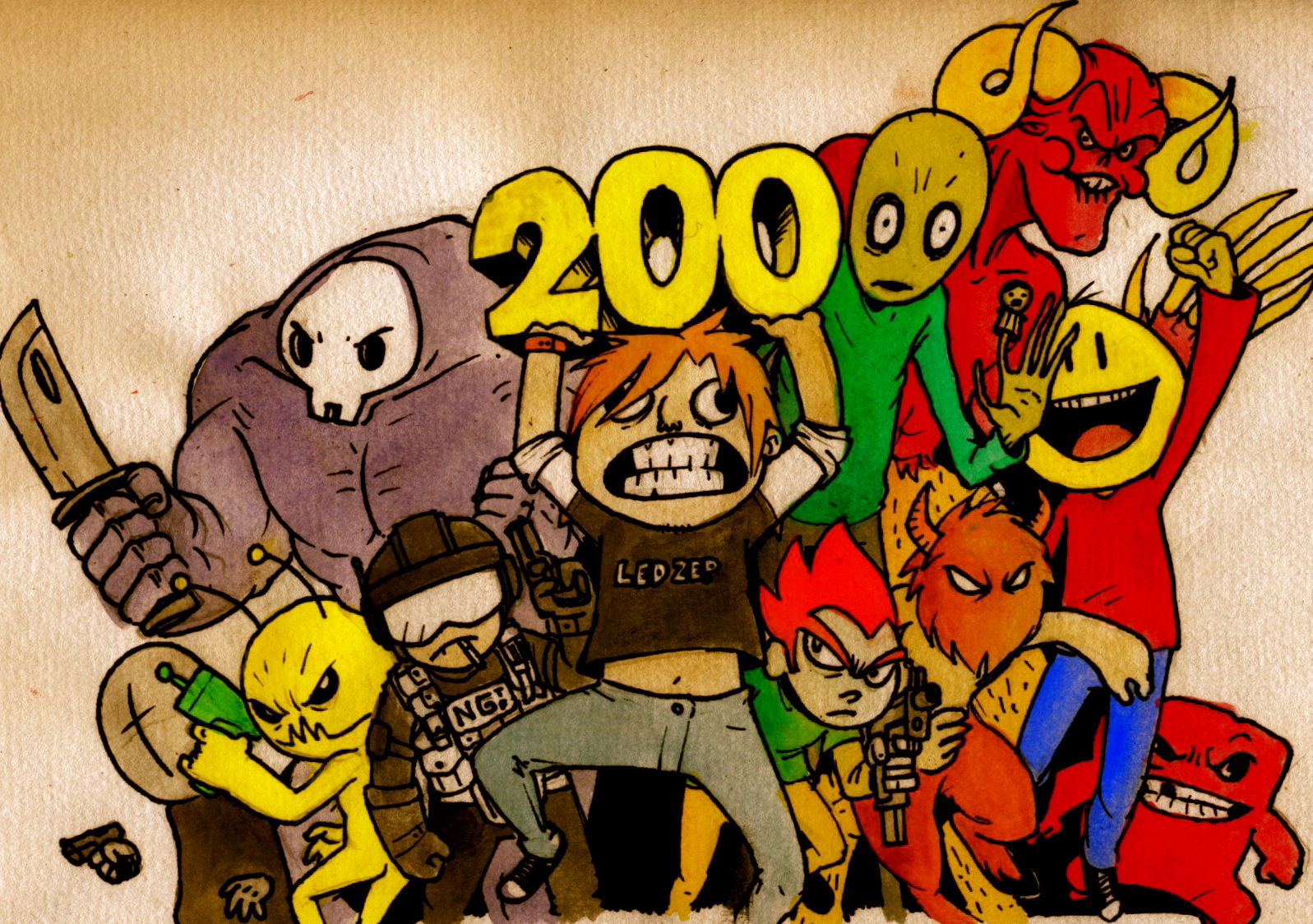 200th DRAWING ON NG