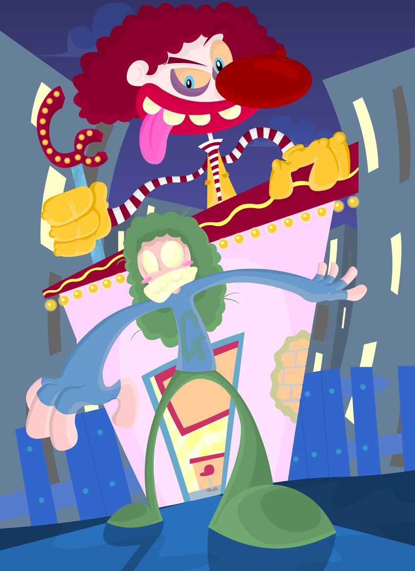 Escape Creepy Clown Burgers