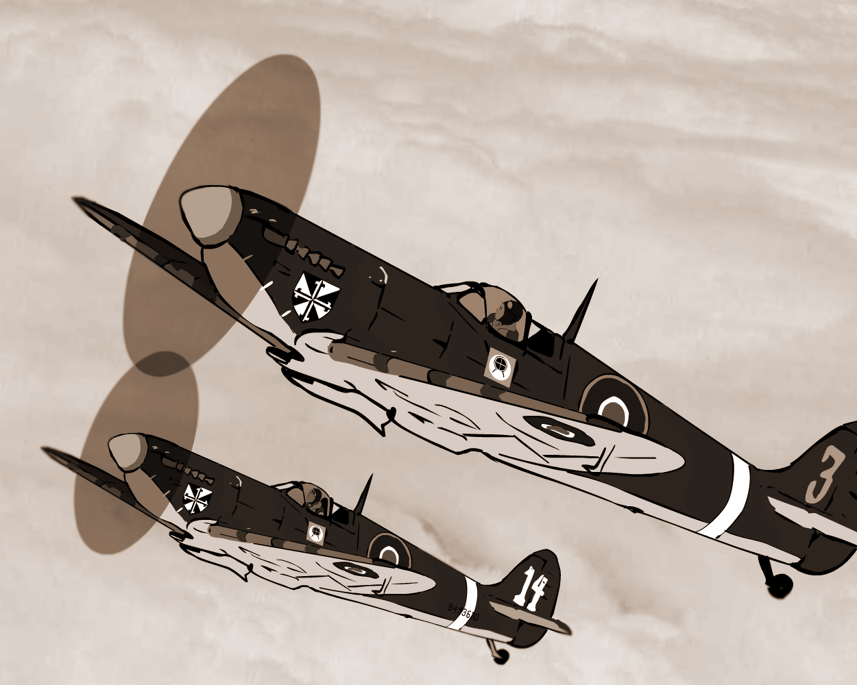 The Cross Squadron Spitfires