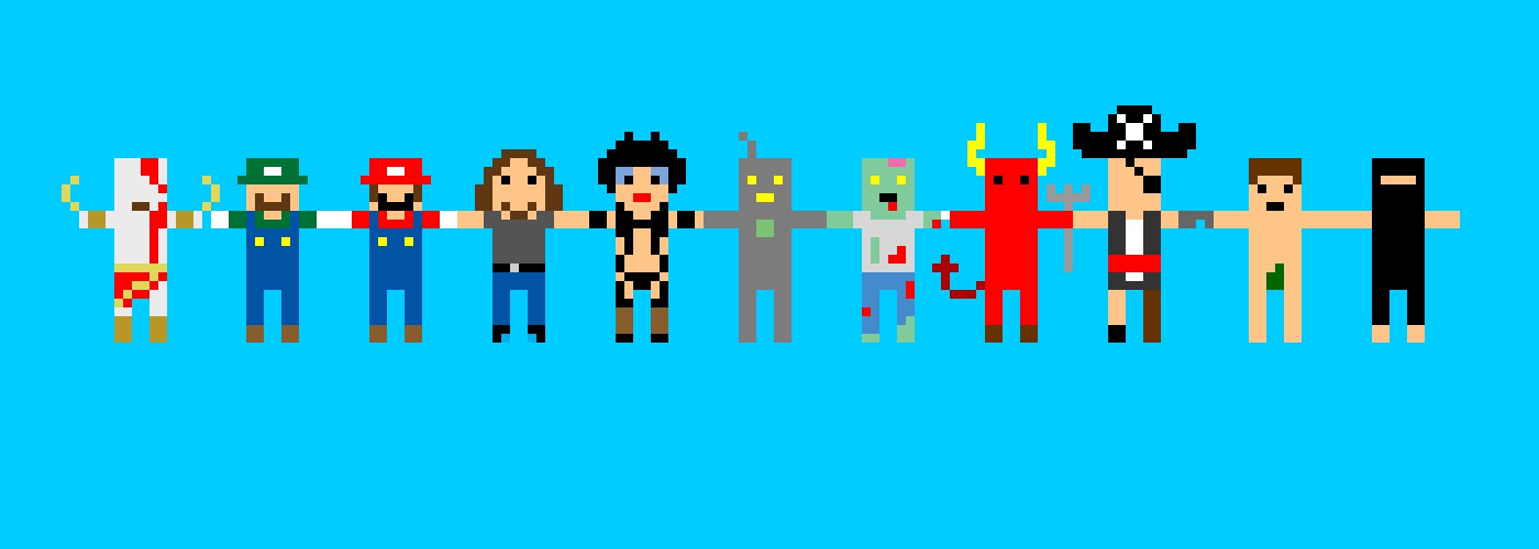 Pixel-paper-dolls