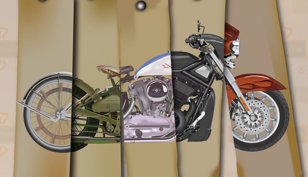 collection of harleys