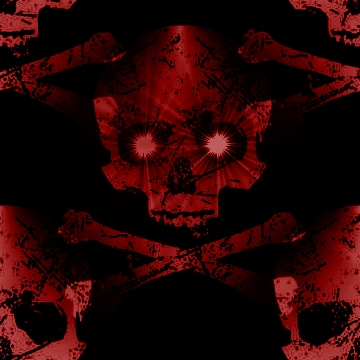 Red Tile Skull