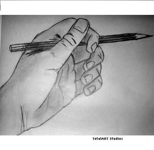 A hand!! and a pencil!!