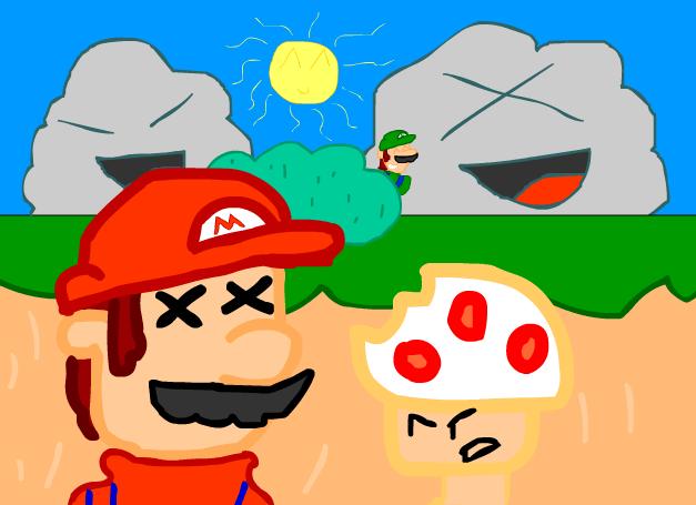Mario Bites Toad