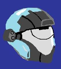 Kats helm drawn in paint