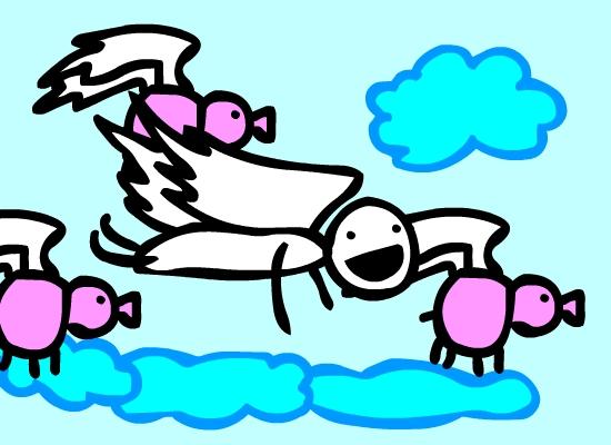 The Flying Piggies