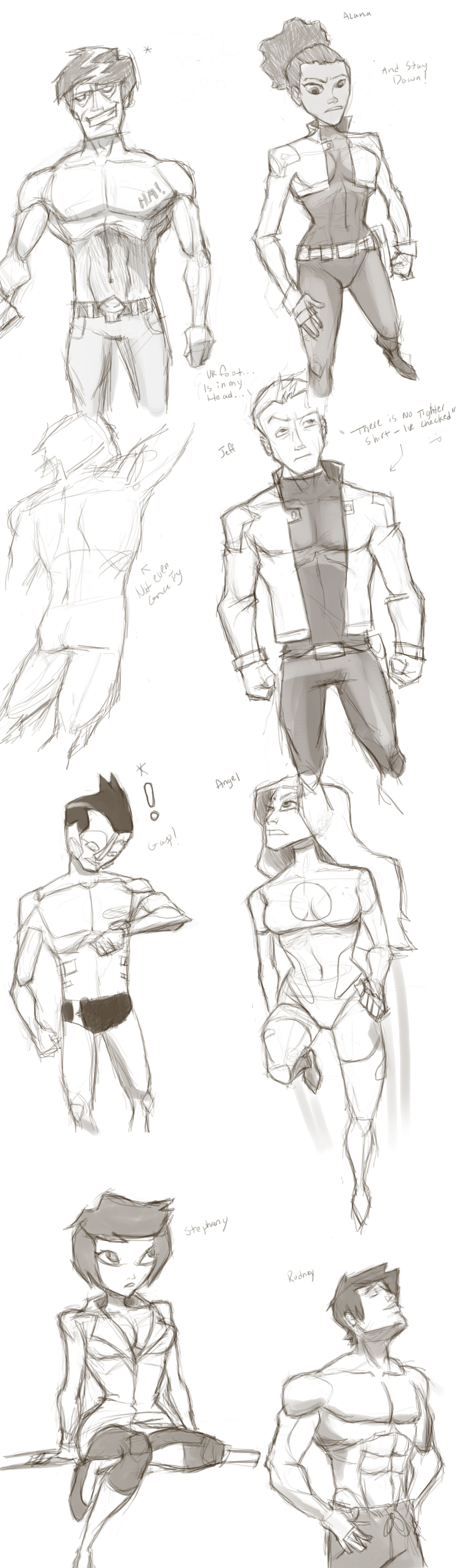 Finished sketches