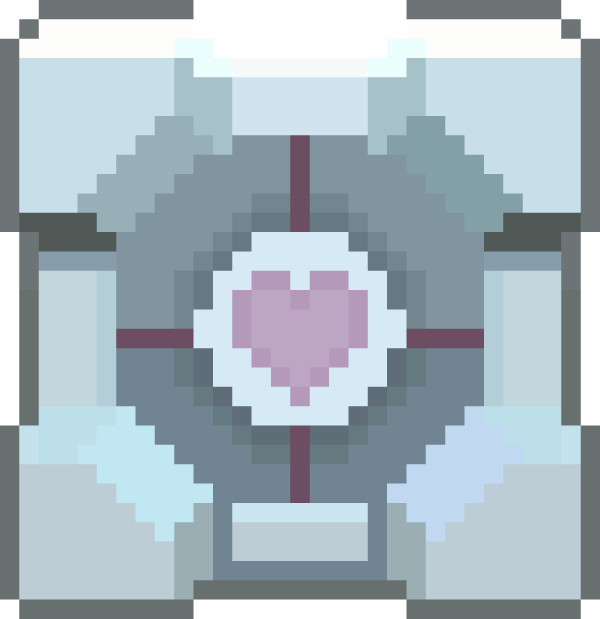 Pixel Companion Cube