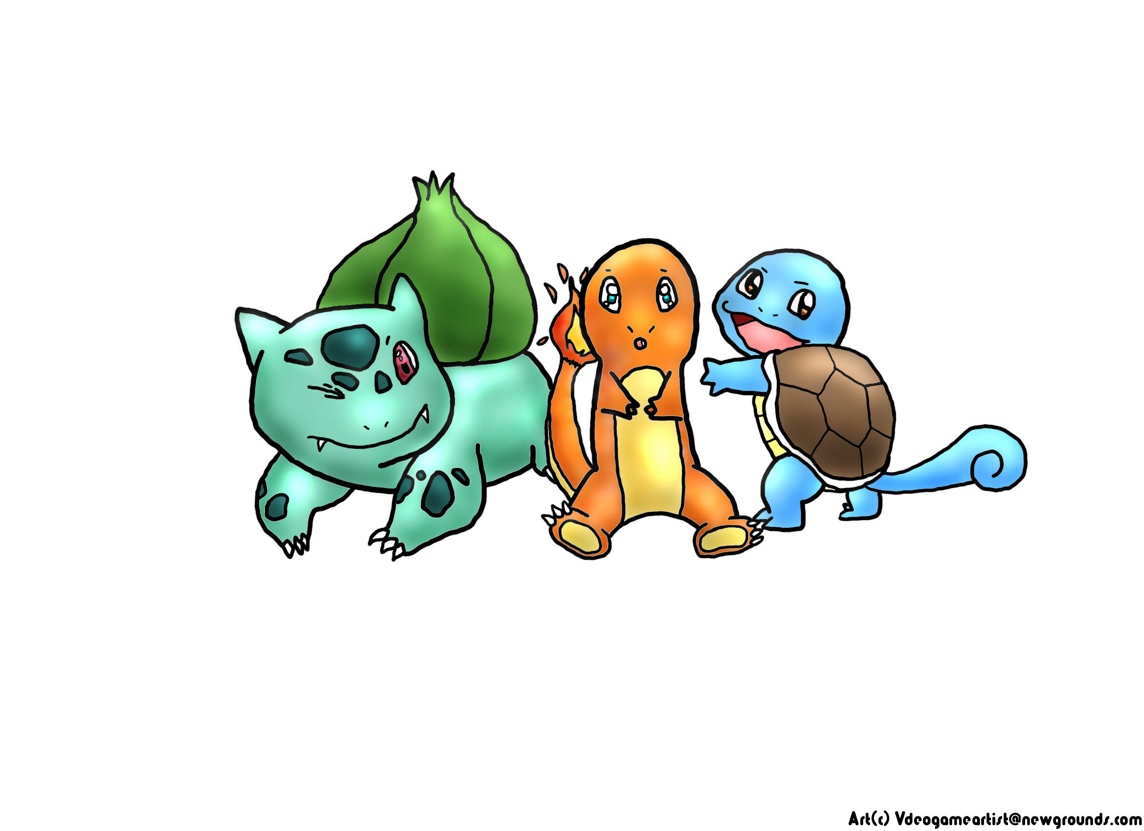 Pokemon Kanto Starters