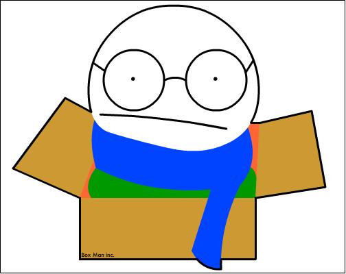 Guy in a box.
