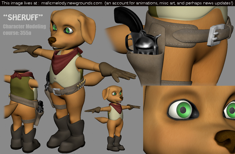 'Sheruff' 3D cartoon dog