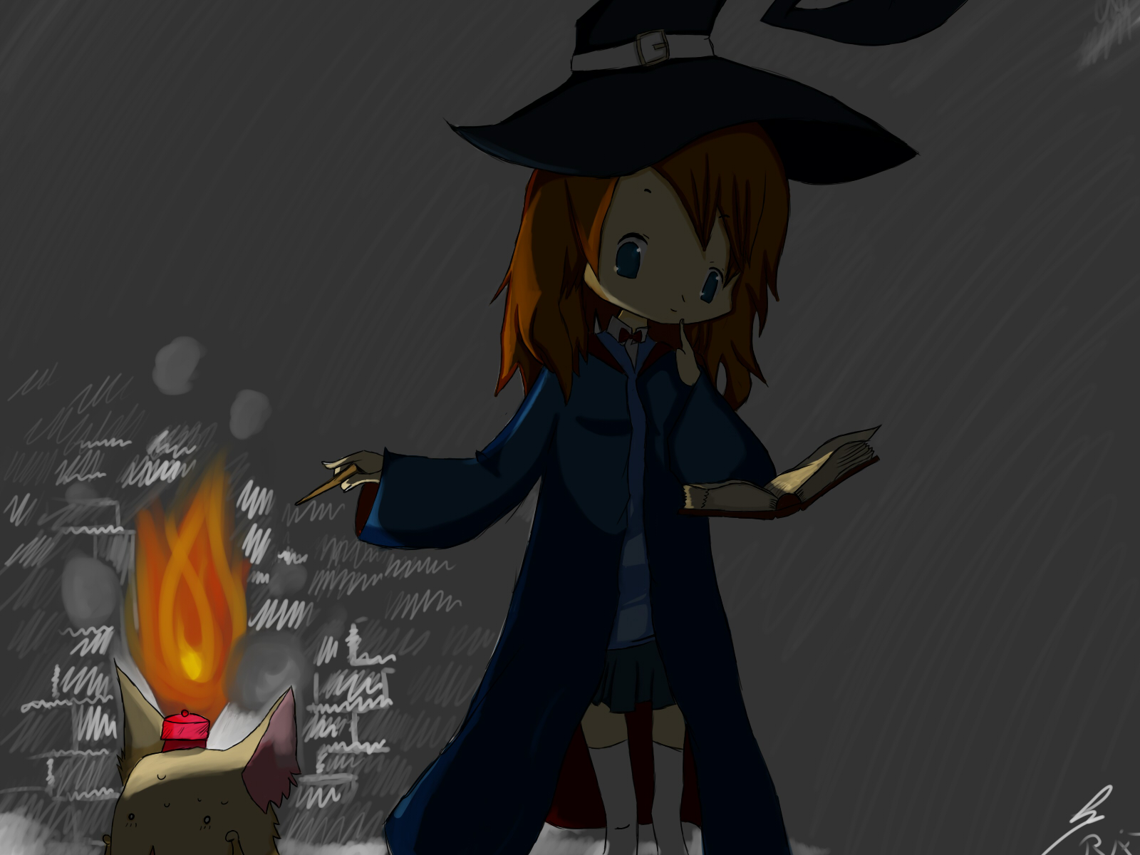 Witch And Pet