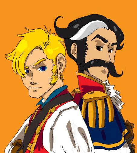 Captain Finn and Major Swift