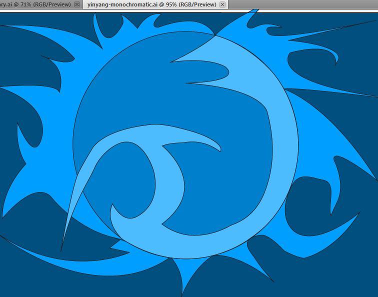 yinyang blue