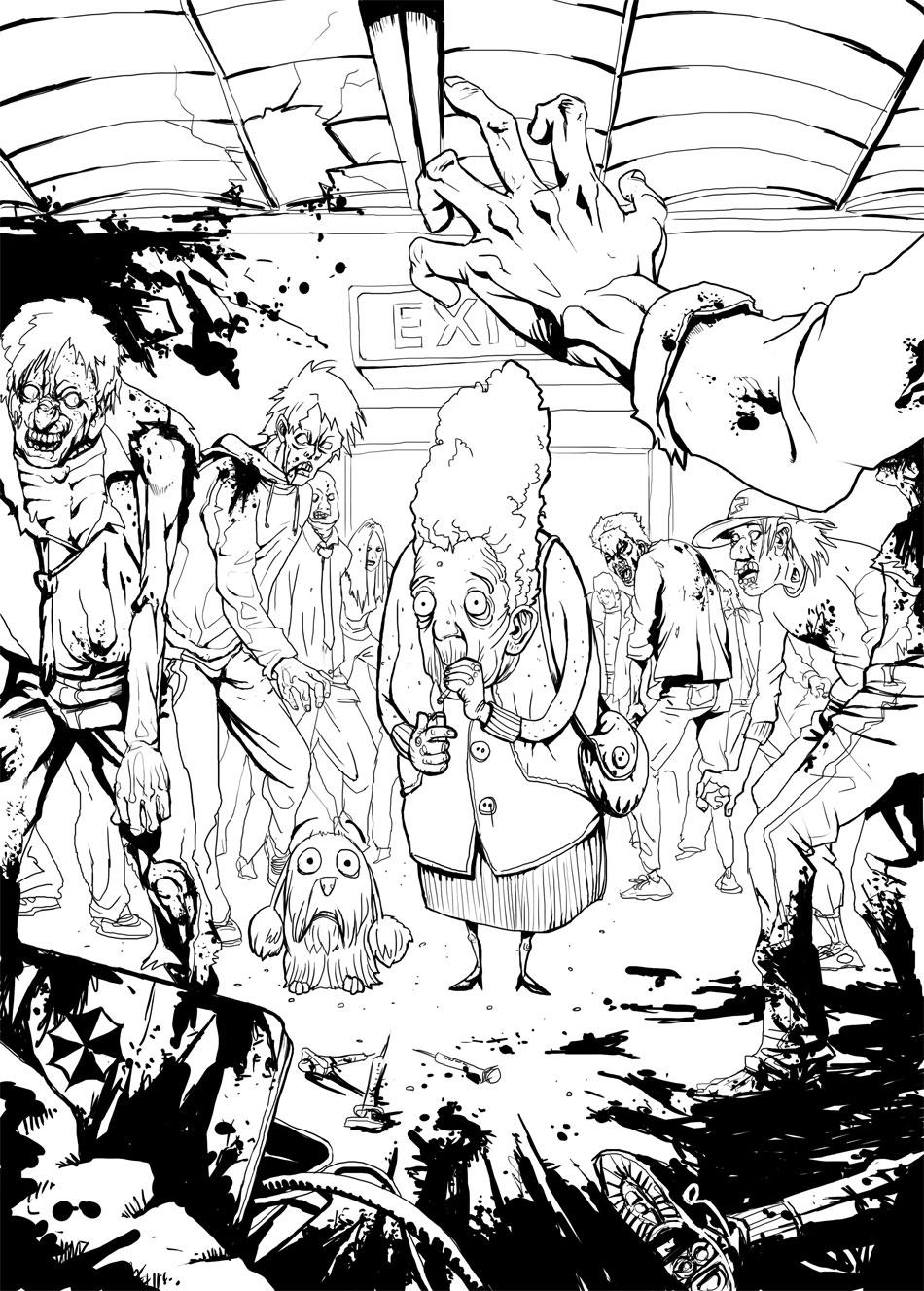 Zombie -lineart