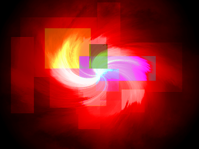 Rainbow Fire Abstract