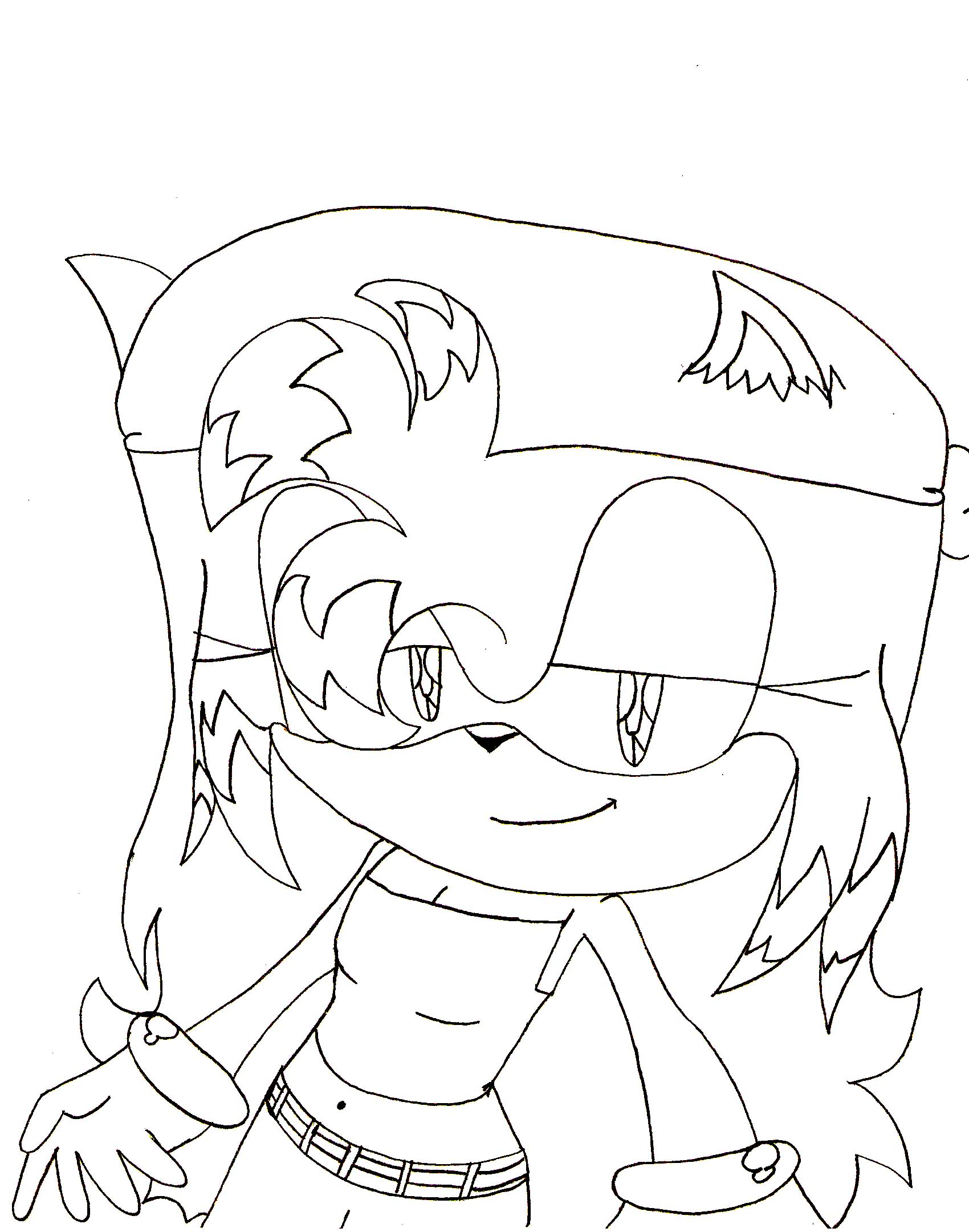 Ari the hedgehog(lineart)