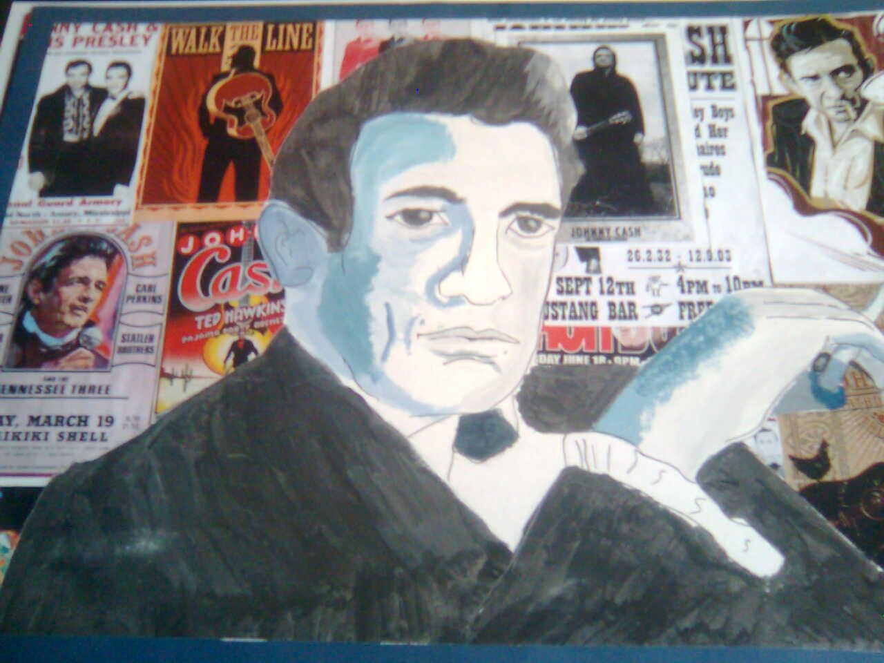 Johnny Cash (Art GCSE)