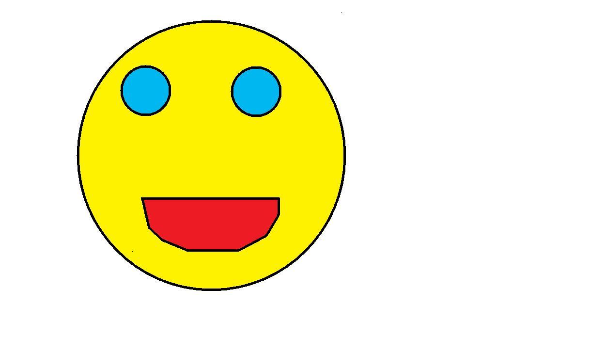 A normal smiley face!!!
