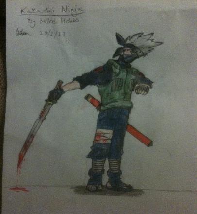 Kakashi Pencil Drawing