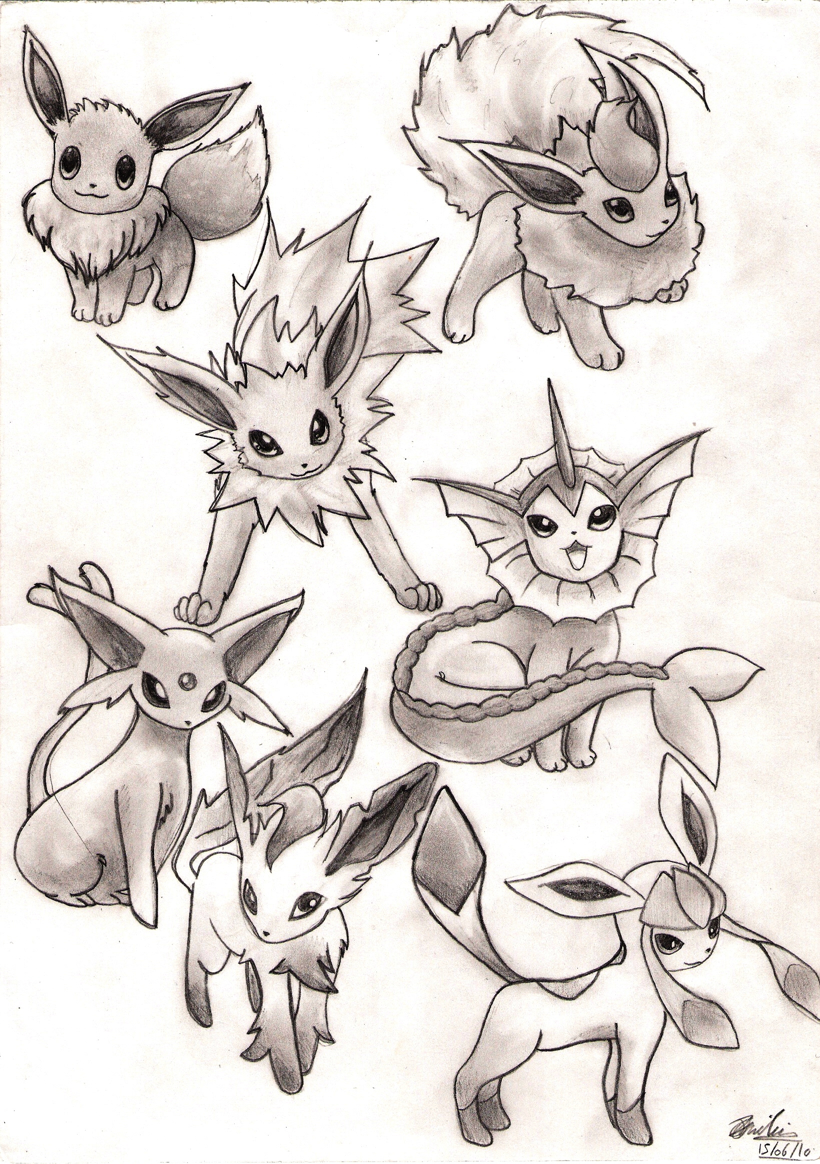 pokemon coloring pages all eevee evolutions eevee pokemon