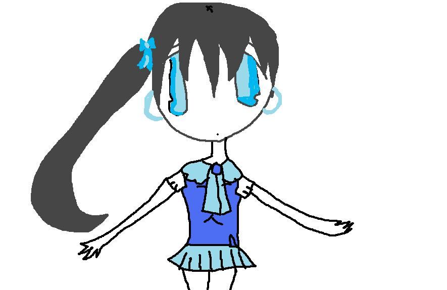 Blue School Girl