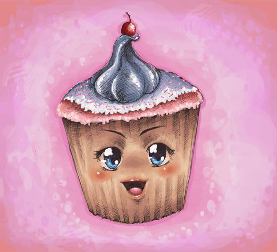 Ultra kawaii desu cupcake