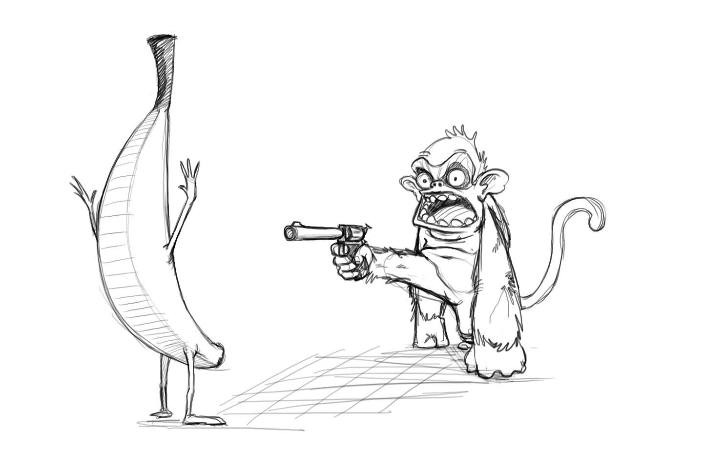 Monkey Mugging