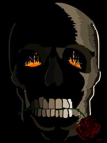 Skull, rose... FIRE!