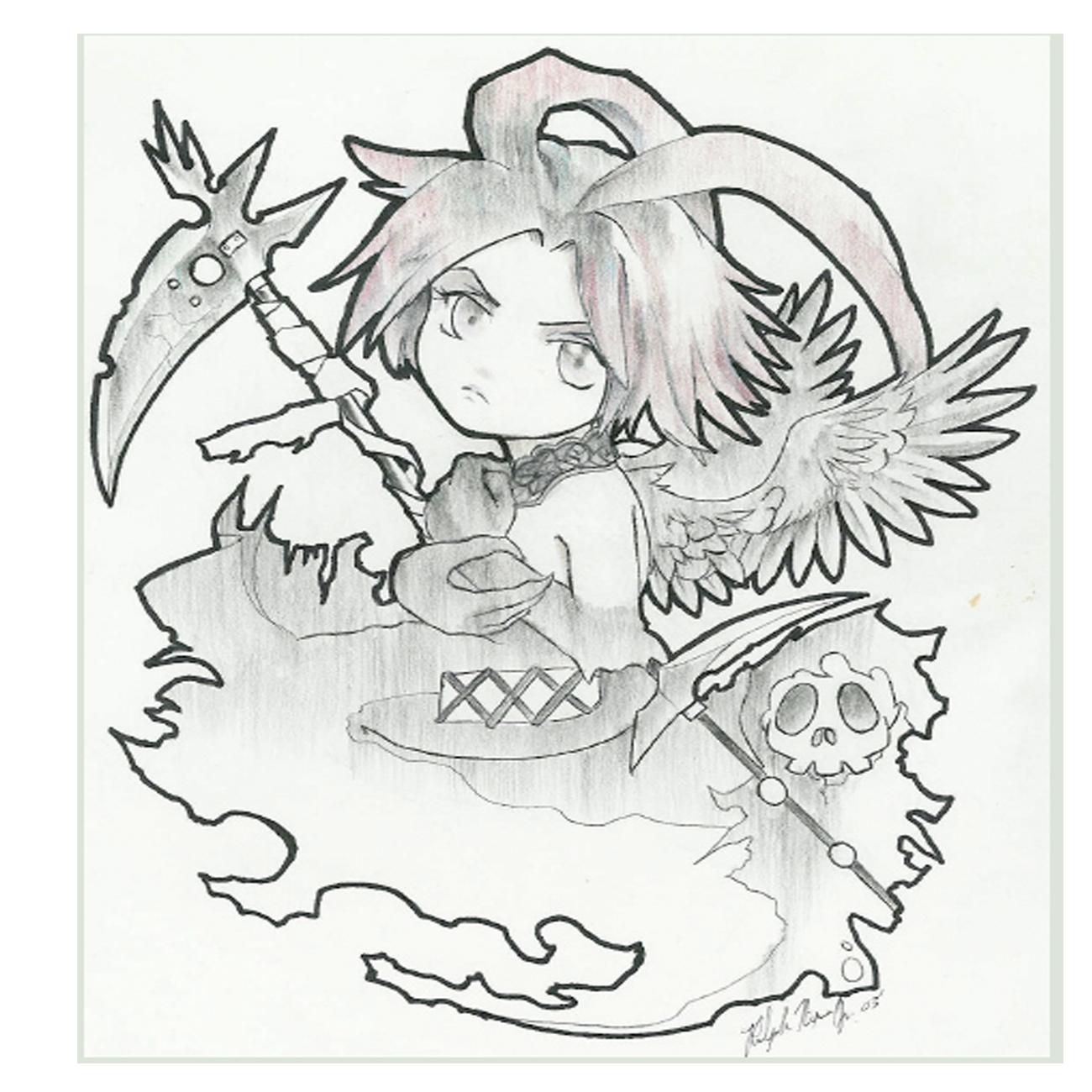 Chibi style Death Angel