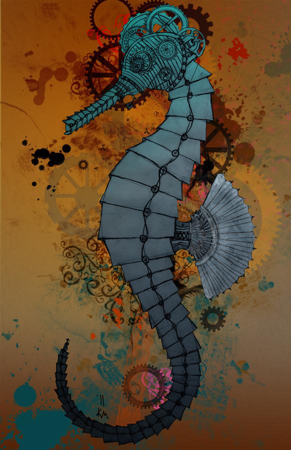 steampunk seahorse