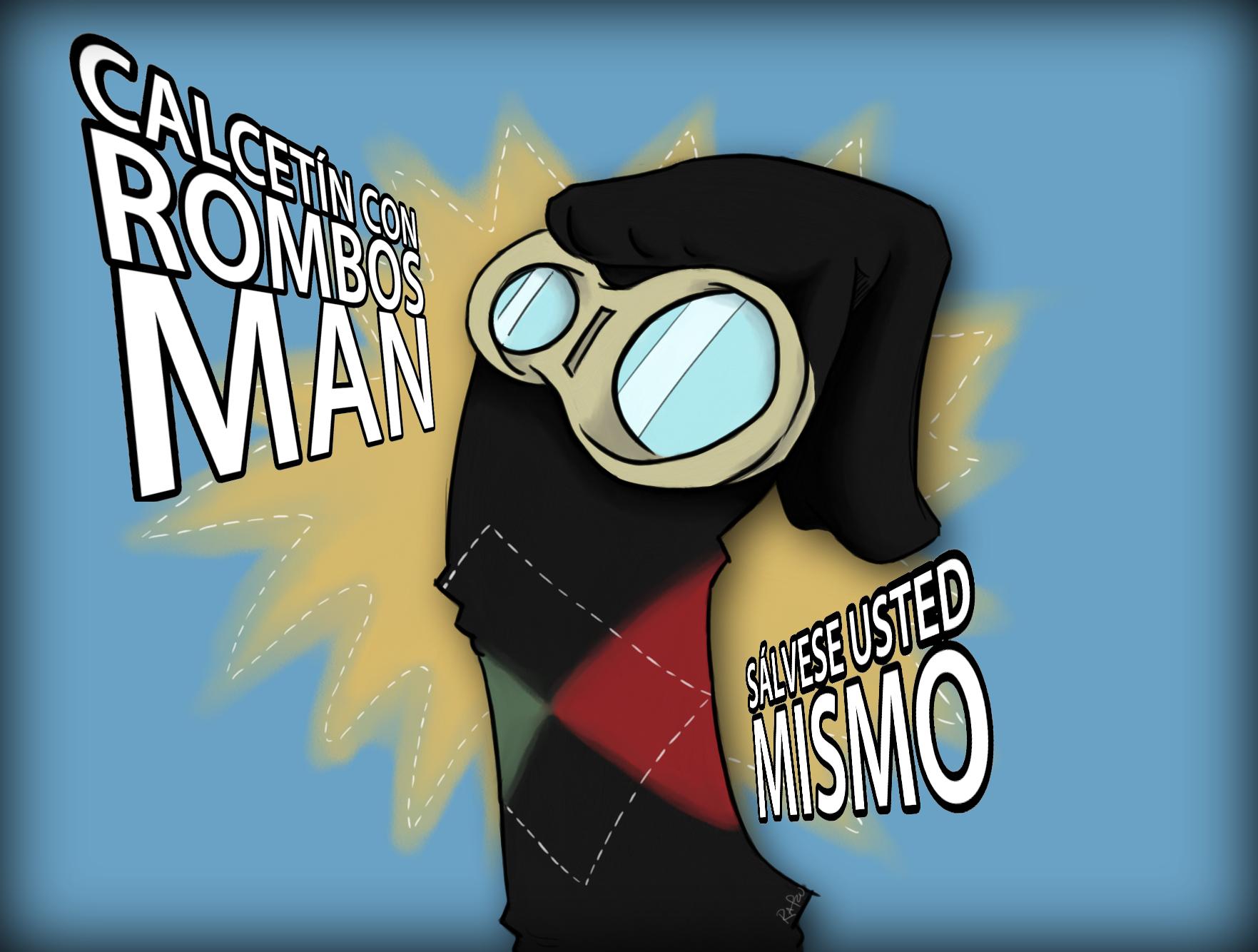 Calcetin con Rombos Man