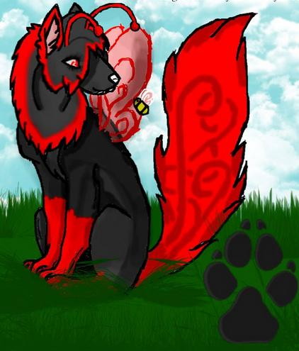 AngelWolfFang Myself as a wolf