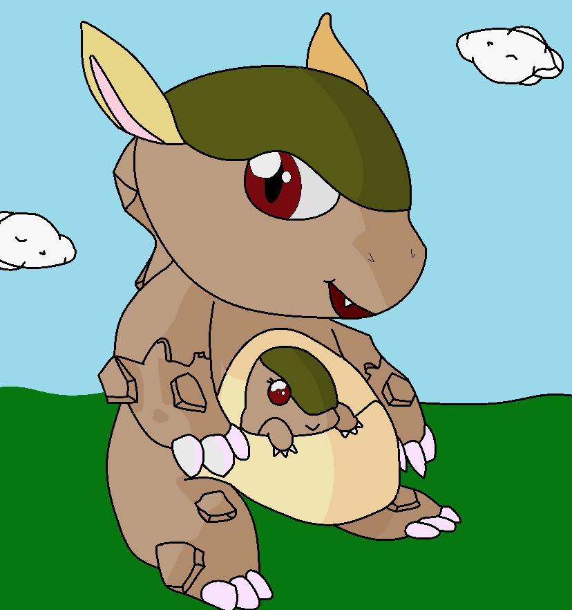 Kangaskhute - Cute Kangaskhan
