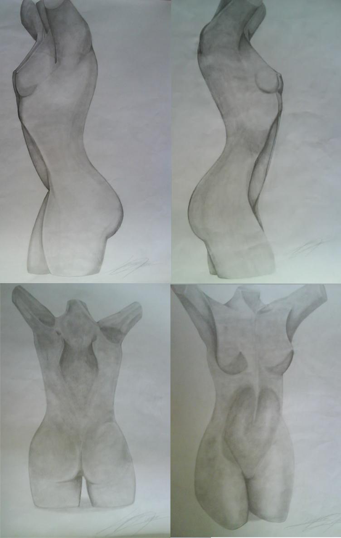 Study of Shadows - Female Body