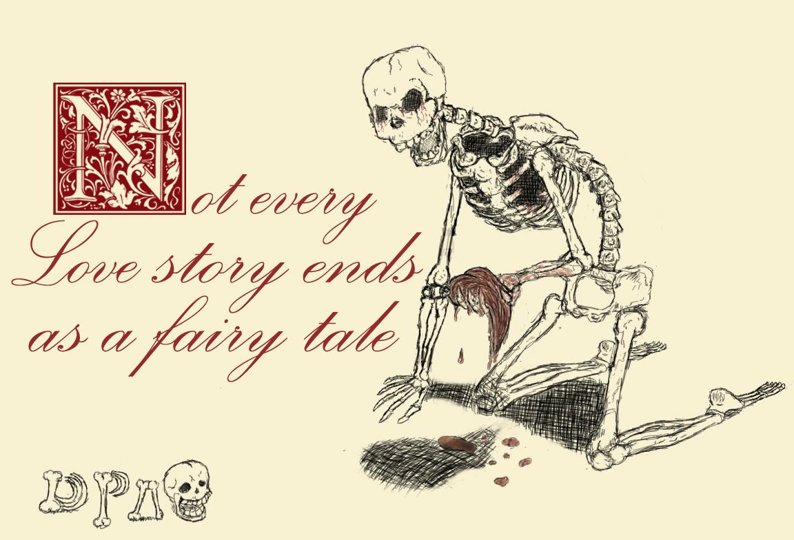 The broken heart of a skeleton